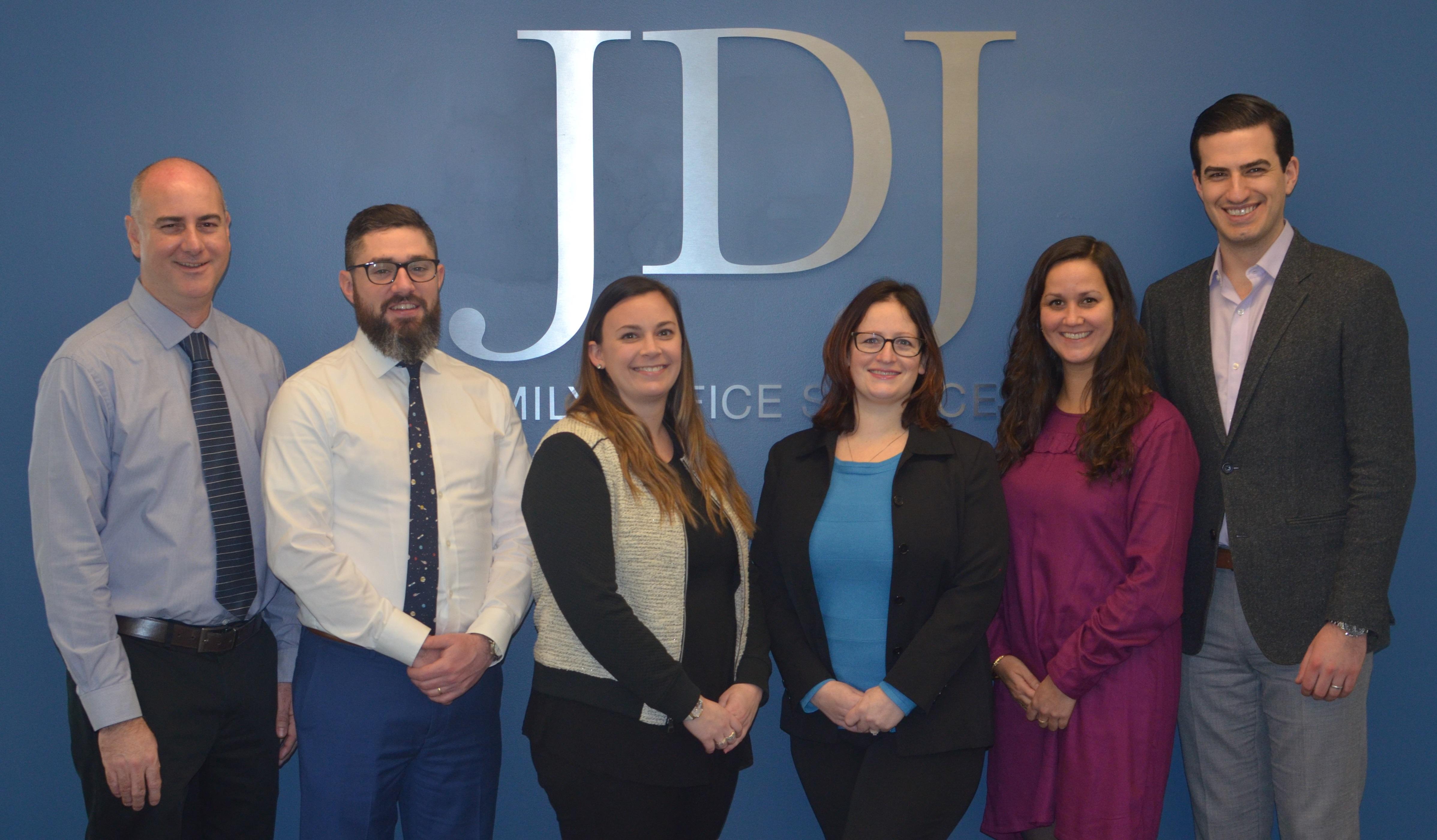 Congratulations to these JDJ team members on their promotions (l to r): Shawn Whitney, Jeff Burke, Brittany Quarantello, Bekah Paradise, Mallory Garneau, Brett Dietz.