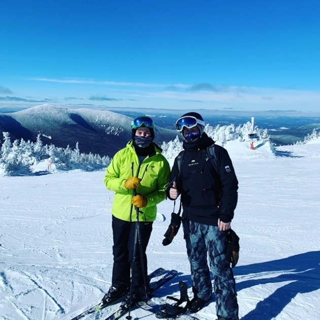 Sean Corliss, pictured at right, participating in The Sugarloaf Charity Summit.