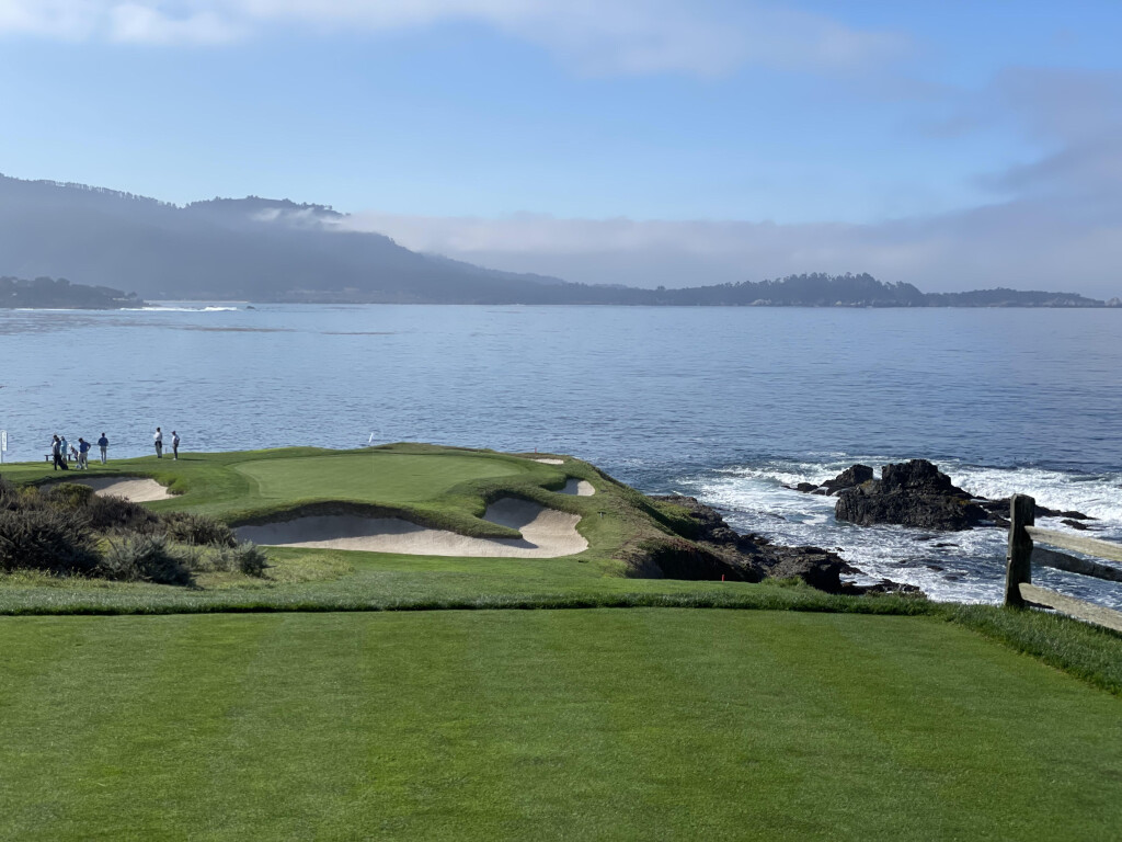 The iconic Pebble Beach golf course.